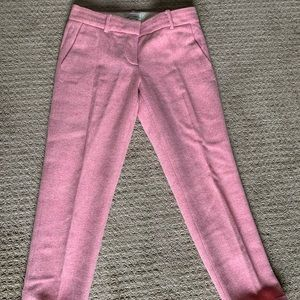 Pink, JCREW wool cafe capri pants